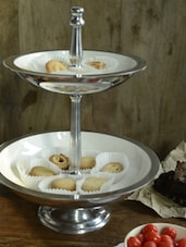 Two Tier Fruit Or Cupcake Stand - Cultural Concepts