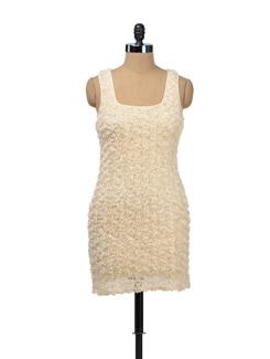 Lace Rosette Dress - TREND SHOP