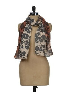 Abstract Print Scarf - J STYLE