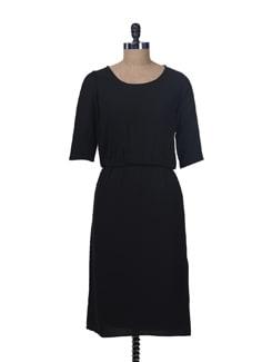 Black Midi Dress - Femella