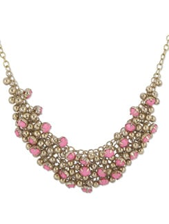 Clustered Gold And Pink Necklace - THE PARI