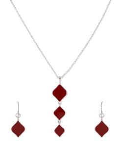 Triple Kite Red Pendant Necklace - THE PARI