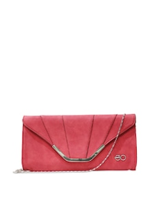 Red Clutch With Silver Sling - E2O