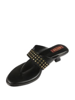 Black Studded Sandals - Balujas