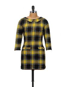Black & Yellow Checkered Dress - SPECIES