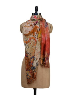 Multicolored Abstract Print Scarf - SPRING SPRIGS