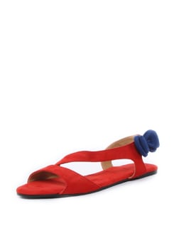 Red Flats With Blue Bow - ZAERA