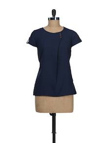 Stylish Navy Blue Top - Stylechiks