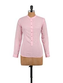 Elegant Baby Pink Top - STREET 9