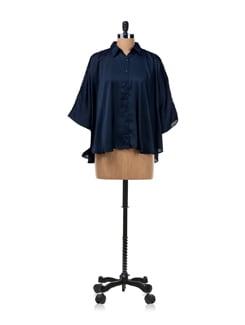 Magician Blue Poncho Style Shirt - Van Heusen