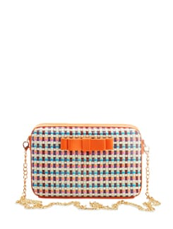 Orange Bow Box Clutch - The Peacock Plume