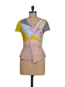 Printed Silk Top - I AM FOR YOU