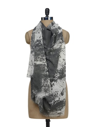 Printed Grey Scarf -  online shopping for Scarves
