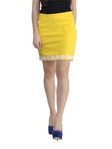 Yellow Lace Skirt - Schwof