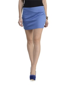 Blue Back Bow Skirt - Schwof