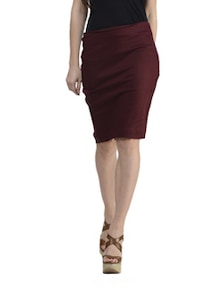 Maroon Back Bow Skirt - Schwof