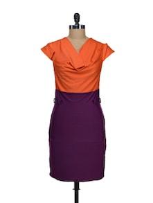 Purple And Orange Designer Dress - Schwof