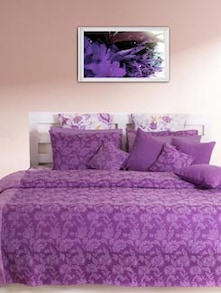 Purple Floral Double Bedcover - HOUSE THIS