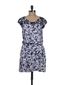 Black & White Butterfly Print Dress - Color Cocktail