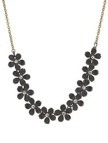 Black Floral Fiesta Necklace - YOUSHINE