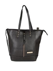 Front Zipper Handbag With Rivets - Lino Perros