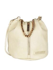 Metal Handle Bag With Front Zipper - Lino Perros