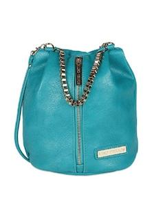 Metal Handle Bag With Front Zipper - Lino Perros 50597