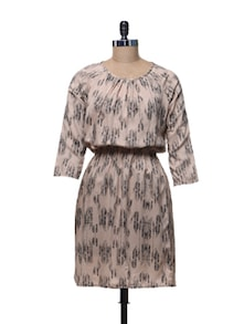 Pleated Peach Dress - @ 499