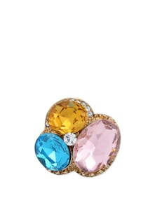 Multi-coloured Stone Adjustable Ring - Karrat 22