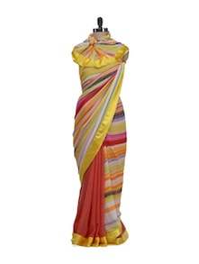 Multi Striped Reversible Saree - ROOP KASHISH