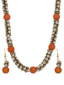 Gold & Orange Necklace Set - Luxor