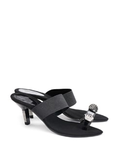 Crystal Studded Sandals - CATWALK