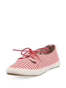 Nautical Miles Striped Canvas Shoes - DONE BY NONE