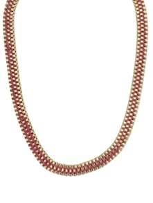 Red & Gold Chain Necklace - YOUSHINE