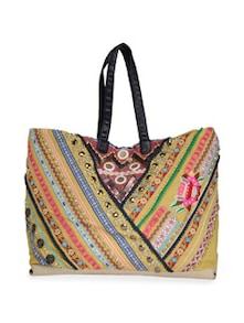 Yellow Embroidered Handbag - Lyla