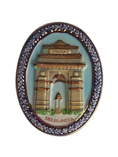 India Gate Oval Ceramic Magnet - The Bombay Store