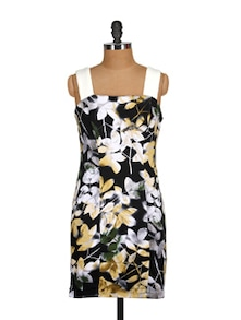 Black Floral Bodycon Dress - MARTINI