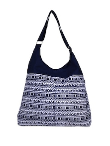 Blue Printed Canvas Sling Bag - YOLO - You Only Live Once