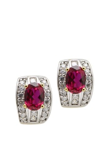 Bold Ruby Earrings - Aradhyaa Jewel Arts
