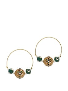 Golden Beads Earrings - Aradhyaa Jewel Arts