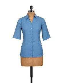 Classic Blue Shirt - Tops And Tunics