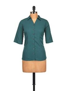 Classic Teal Blue Shirt - Tops And Tunics