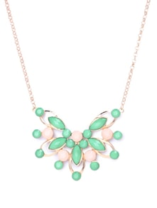 Charming Emerald & Pink Necklace - CIRCUZZ