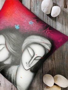 Ethnic Faces Print Digital Cushion Cover- Set Of 2 - Belkado