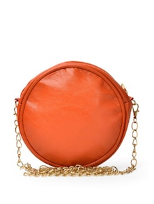 Orange Round Sling Bag - Toniq