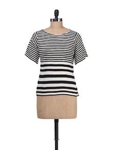 Black&White Striped Top - Besiva