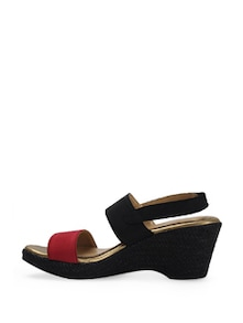 Wedge Heels In Black And Red - La Briza