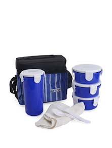 Toasty Big Lunch Box With Pouch- Blue - Nayasa