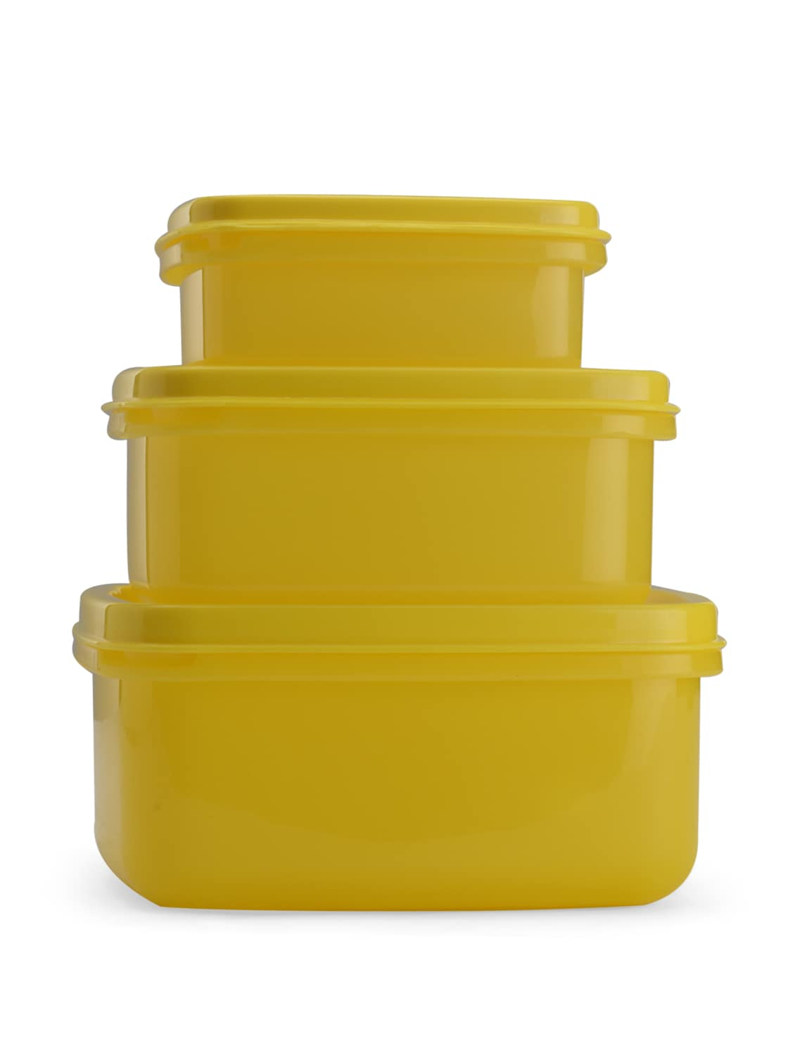Yellow Storage Container Set Of 3 Pieces - Nayasa