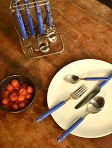 Blue Cutlery Set- 25 Piece - Elegante